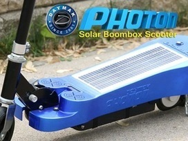 Daymak Photon Scooter : solar self charging boombox scooter with integrated speakers built on a solar pod with bluetooth and USB charging port. • /r/kickstarter | Indie Movies | Scoop.it