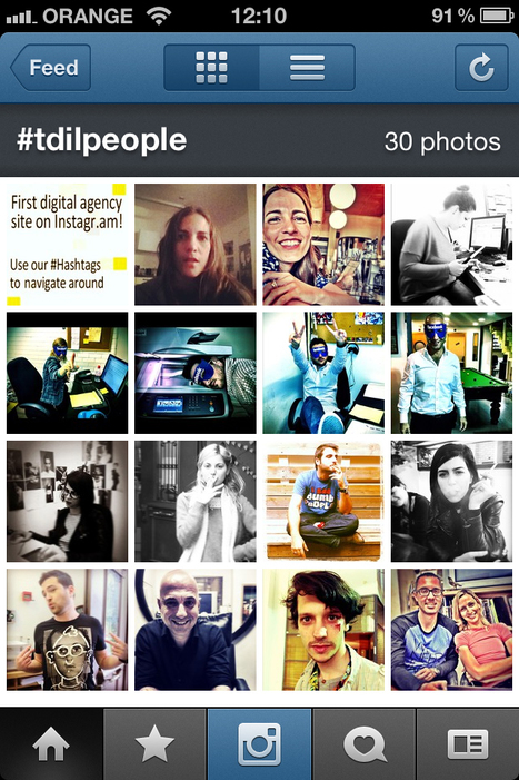Pretty Damn Cool: Tribal DDB Israel's Officegram - Agency Houses Website Entirely on Instagram   Tracking Transmedia   Scoop.it