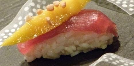 Recette de sushis sucrés au lait de coco, chocolat blanc et fruits | SUSHIJU | Scoop.it