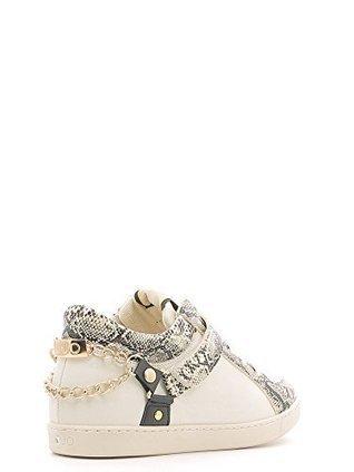 Liu Jo Sneaker Donna Yabloko Pitonata Leather White-38 su www.kellieshop.com | kellieshopsales | Scoop.it