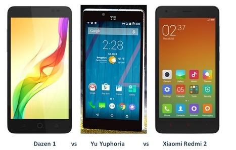 Coolpad Dazen1 vs Xiaomi Redmi2 vs Micromax Yu Yuphoria: Which Smartphone to buy under 7k? | Asus Zenfone 5- A Close competitor to Moto G | Scoop.it