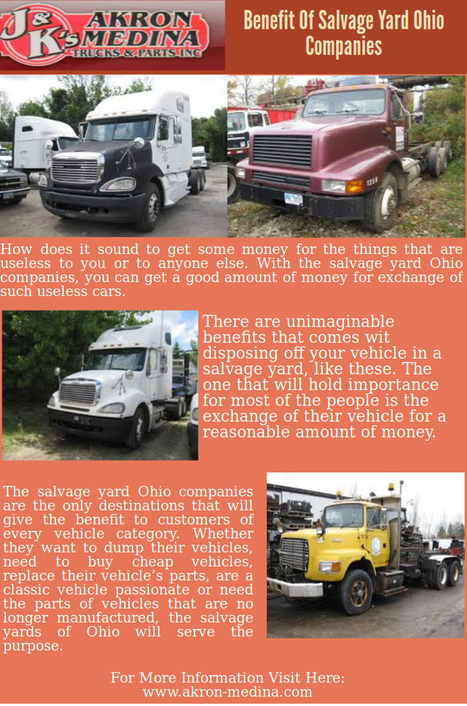 Benefit Of Salvage Yard Ohio Compani Interactive Image by henrylee | Akron-Medina | Scoop.it