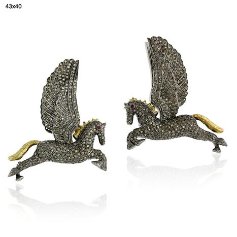 Pave Diamond Horse Ear Cuff Jewelry | Wholesale Jewelry | GemcoDesigns | Pave Diamond Bangle | Diamond Jewelry | GemcoDesigns | Scoop.it