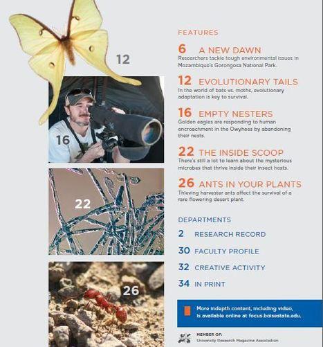Magazine Explore 2016 - La recherche à l'université d'État de Boise [en anglais] | Insect Archive | Scoop.it