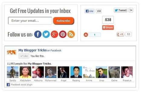 10 stylish email subscription widget for Blogger ~ Probloggingtricks | Androidlead | Scoop.it