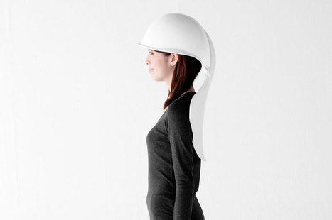 mamoris chair double functions as an emergency safety helmet - Designboom | Amish and Technolgy | Scoop.it