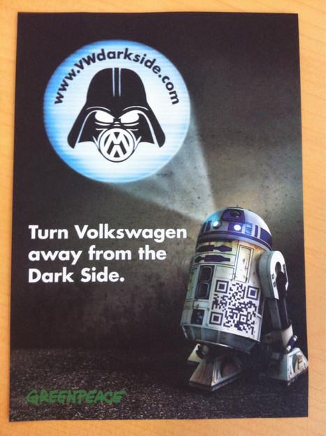 Volkswagen détourné par Greenpeace sur les émissions de CO² | Holytag : Code barres 2D et solutions marketing mobiles | Scoop.it