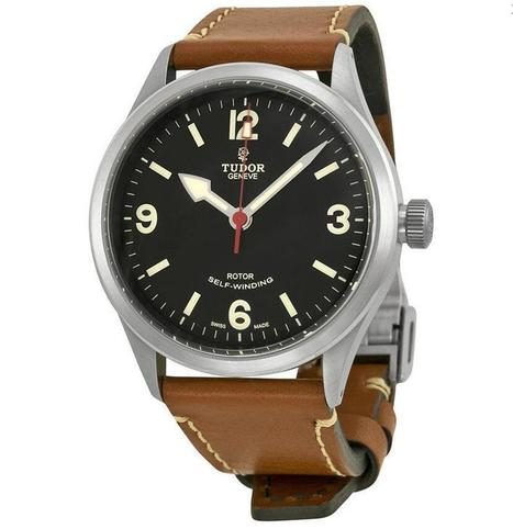 AAA quality Replica Tudor Heritage Ranger Automatic Black Dial Brown Leather Men's Watch 79910-BKASBRLS | Tag heuer watches Replica,fake watches uk | Scoop.it
