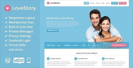LoveStory v1.4 Dating WordPress Theme | Download Free Full Scripts | hue201 | Scoop.it