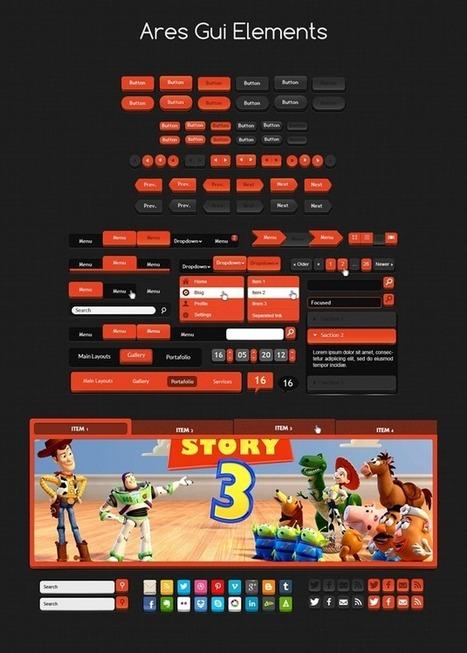 3D GUI PSD | Crazy 4 Photoshop | Scoop.it