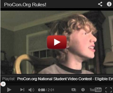 """Why I Love ProCon.org"" National Student Video Contest, 2012 