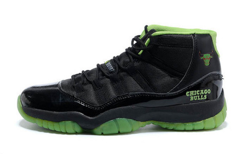 Nike Shoes Retro Jordan 11 Chicago Bulls Black and Neon Green | popular list | Scoop.it