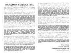 The Coming General Strike Flyer | STRIKE EVERYWHERE! | ANOTHER WORLD, NOW! GLOBAL SPRING #1M #12M #15M | Scoop.it