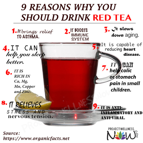 Food Ways - 9 Reasons Why You Should Drink Red Tea - Project Wellness Now  Discover More at Project Wellness Now | My I Like Eating Channel | Scoop.it