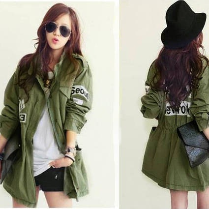 Cheap 2013 Hitz Korean frock stand collar insignia leisure trench coat for women in women outcoat from women clothing on sightface.com | Cheap women Clothing Online at Sightface | Scoop.it