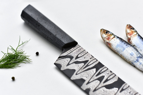 Damascus knife couteaux béton par Tomas Vacek - Blog Esprit Design | Le béton créatif et poétique | Scoop.it