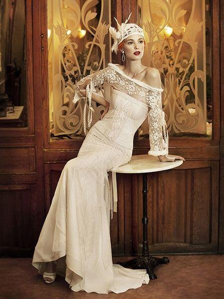 Yolancris vintage inspired wedding dress bride her wedding for 1920s vintage wedding dresses