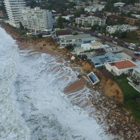 Drone gives bird's eye view of damage to Sydney beachside homes | CCs Geography News | Scoop.it