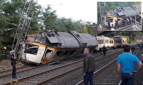 Several dead as train derails in northern Spain | Railway's derailments and accidents | Scoop.it
