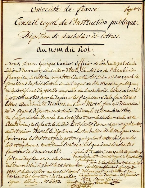 Degrés de parenté: Bachelier sous Louis XVIII | GenealoNet | Scoop.it