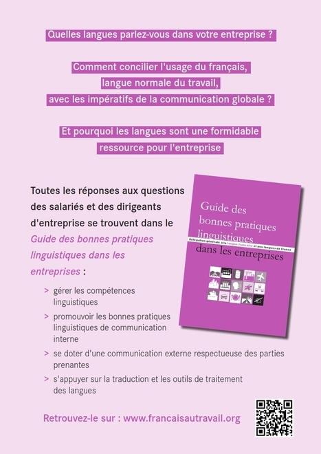 Le Guide des bonnes pratiques linguistiques dans les entreprises | CFECGC-ALIT Communication | Scoop.it