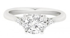 Annabell engagement ring is round brilliant diamond set in white gold | Engagement rings Dublin Blog. | Scoop.it