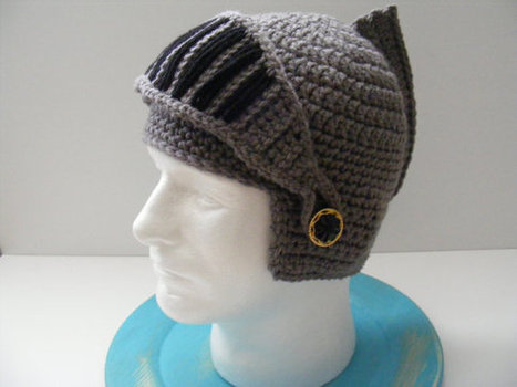 Knight Armor Helmet with Moveable Shield - Crochet | Fantasy fiction | Scoop.it