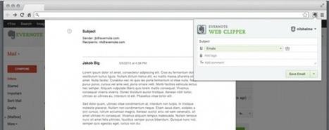 Ya podemos guardar con un click los mails de Gmail en Evernote | Las TIC y la Educación | Scoop.it