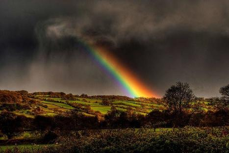 A rainbow over in the Golden Valley of Herefordshire. | CasaVersa ~ Never feel like a tourist again | Scoop.it