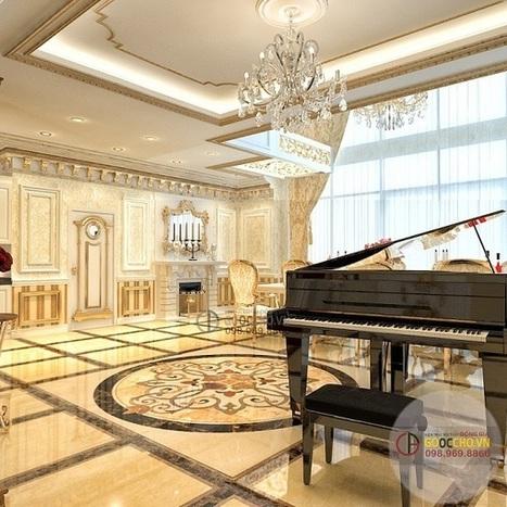 Thiết kế nội thất phòng khách cổ điển cho không gian sang trọng | Thiet ke noi that chung cu Royal City | Scoop.it