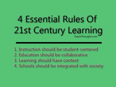 4 Essential Rules Of 21st Century Learning | Teaching in the XXI century | Scoop.it