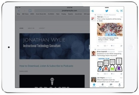How to Use Split View & Slide Over on iPads @jonathanwylie | iPads in Education | Scoop.it