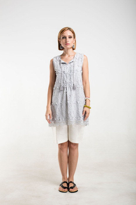 grey cotton lace top with tassels | 2014 Collection | Scoop.it