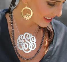 Make Your Own Monogram Necklace | Monogrammed Necklaces | Scoop.it