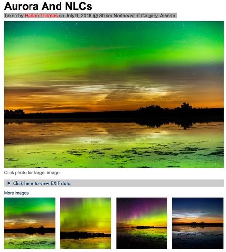 #AuMenuDuJour #aurore boréale ET nuage #noctulescent en #Alberta #Canada | Arctique et Antarctique | Scoop.it