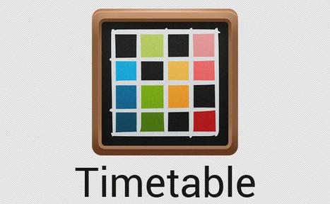 Timetable para Android, una completa aplicación para organizar tu horario escolar y tareas | Educational Toolbox 2.0 | Scoop.it