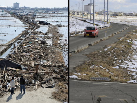 Japan tsunami recovery: Then and now Pictures - CBS News | Year 6: A Diverse and Connected World | Scoop.it