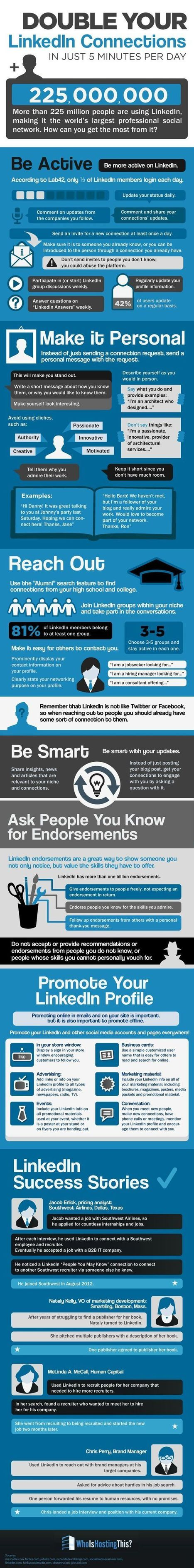 10 Simple Tips to Double your LinkedIn Connections | Jeff Bullas | Public Relations & Social Media Insight | Scoop.it