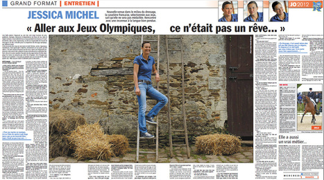 Une double page sur Jessica Michel dans l'Equipe | JO 2012 - Equitation | Scoop.it