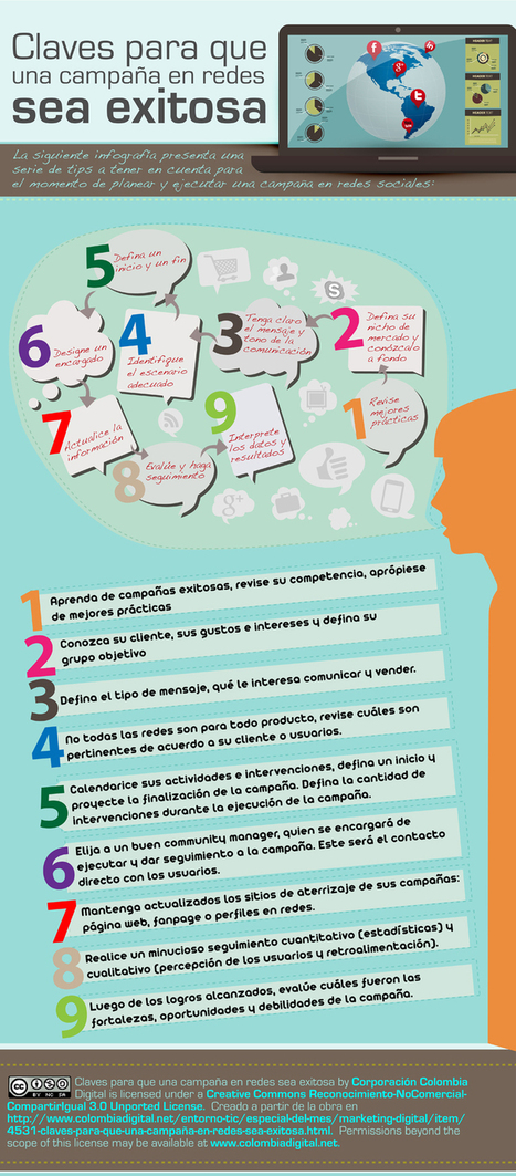 Claves para que una campaña en Redes tenga éxito #infografia #infographic #marketing | El rincón de mferna | Scoop.it