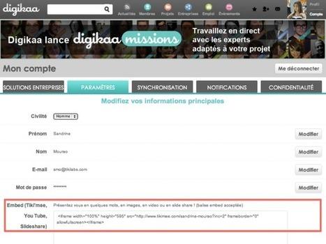 Comment placer mon Tiki'mee dans mon profil Digikaa ? | Actualités médias sociaux | Scoop.it