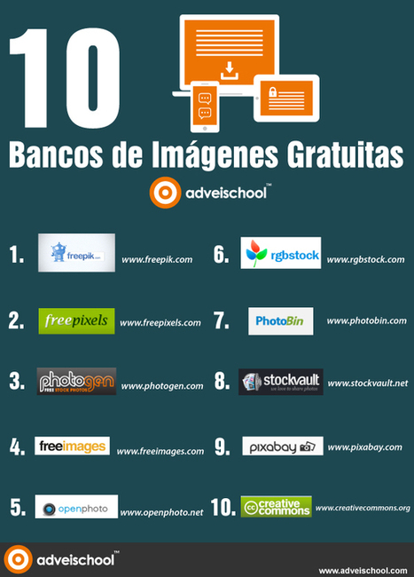 (TOOL) 10 bancos de imágenes gratuitas #infografia #infographic #design | 1001 Glossaries, dictionaries, resources | Scoop.it