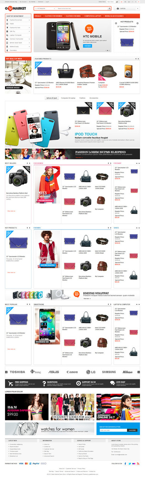 Gala YoMarket, Magento Premium Responsive Theme | Premium Download | Templates | Scoop.it