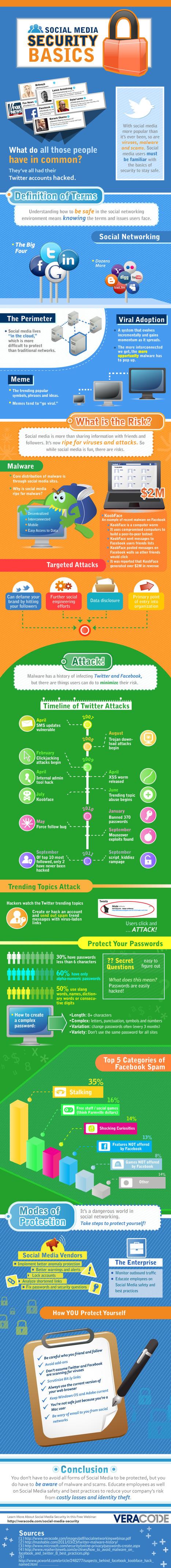 Infographic: Security basics voor sociale media | Media Literacy | Scoop.it
