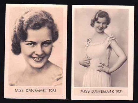 TWO ORIGINAL 1931 Miss Denmark ( DANEMARK) Tobacco Cards | Antiques & Vintage Collectibles | Scoop.it