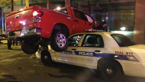 Police: Truck lands on police cruiser after hitting car - My Fox Boston | Work - Mack | Scoop.it