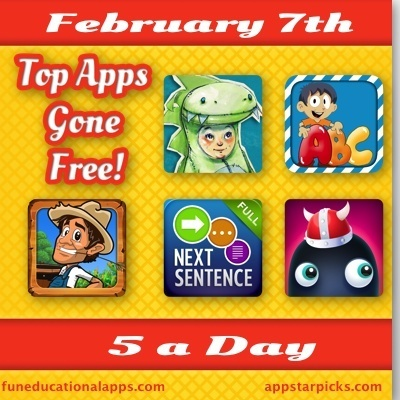5 a Day - Best Apps for Kids Gone Free Today Feb. 9 - Fun Educational Apps for Kids | My Scoops | Scoop.it
