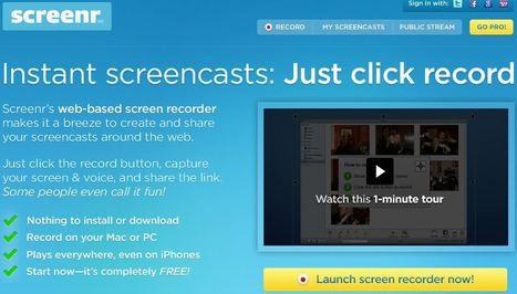 Screenr | Instant screencasts: Just click record | Digital Tools and Education | Scoop.it