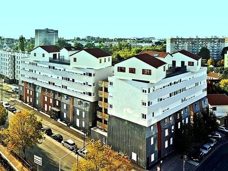 Collage urbain : un immeuble de logements déroutant à Champigny-sur-Marne | Architecture insolite | Scoop.it
