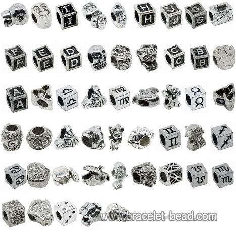 Silver Metal Beads for Pandora Style Charms 50pcs [PI50-1] - $20.99 | Cute Pandora Charms on bracelet-bead.com | Scoop.it
